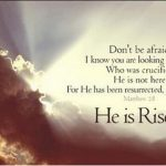 HE IS RISEN. . HE IS RISEN INDEED ~ HAPPY EASTER EVERYONE!!