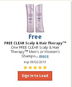 KROGER: FREE Clear Scalp & Hair Therapy Men's or Women's