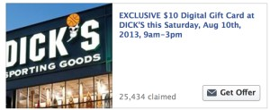 Free Dick's Sporting Goods Gift Card
