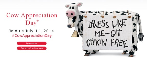 photograph regarding Chick Fil a Cow Appreciation Day Printable known as CHICK FIL A: Consider a Cost-free Supper upon 7/11!! Cost-free Preferences Great!