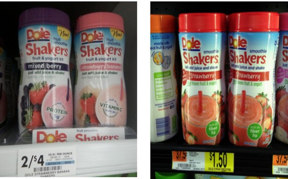 Giant Eagle Walmart Dole Fruit Smoothie Shakers As Low As 050