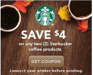 graphic regarding Starbucks Coffee Coupons Printable named Rush! Snag Those $4/2 Discount coupons for Starbucks Espresso Goods
