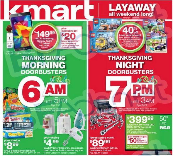 Kmart Black Friday Ad 2014 Amp Thanksgiving Day Ad Free