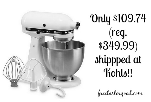 KOHLS: KitchenAid Classic Plus 4.5-qt. Stand Mixer ONLY ...