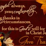 HAPPY THANKSGIVING to all of YOU!