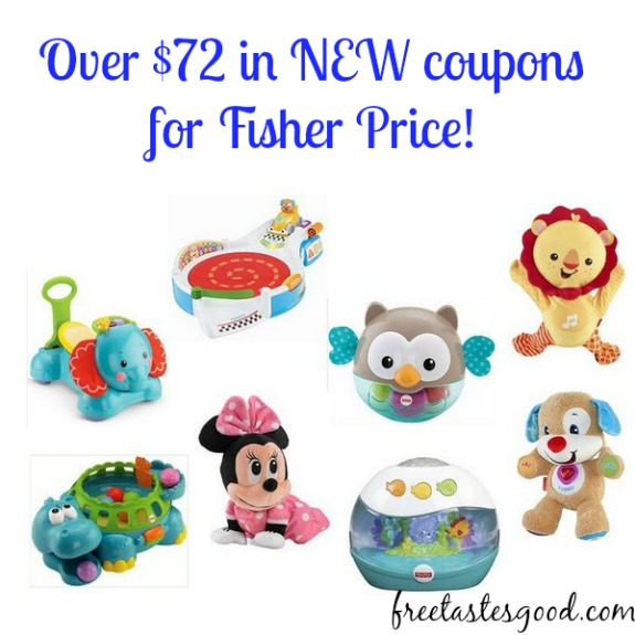 photograph relating to Fisher Price Printable Coupons named Around $72 inside of Contemporary Printable Coupon codes for Fisher Selling price!! Totally free