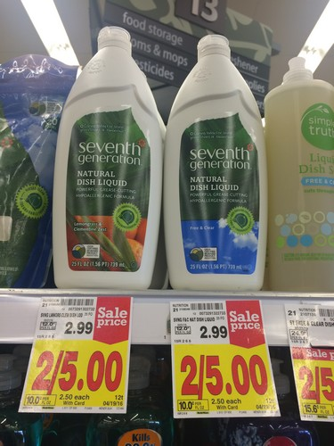 picture regarding Seventh Generation Printable Coupon known as KROGER: 7th Production Liquid Dish Cleaning soap Simply $0.50 (reg