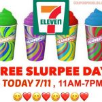 7-ELEVEN:  FREE Small Slurpie on 7/11 from 11 a.m. to 7 p.m.