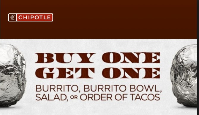 picture regarding Chipotle Printable Coupon identified as Chipotle Words and phrases Coupon for BOGO Totally free Entree Cost-free Preferences Great!