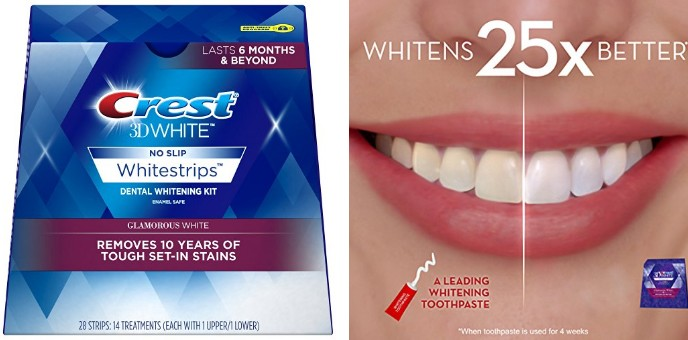 Amazon Crest 3d White Luxe Whitestrip Teeth Whitening Kit