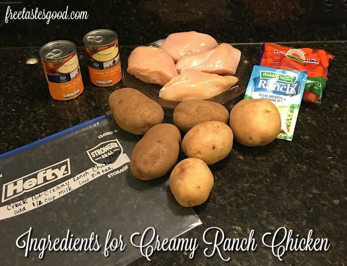 freezer-to-crockpot-creamy-ranch-chicken-ingredients
