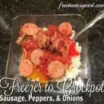 Freezer to Crockpot Sausage and Peppers!
