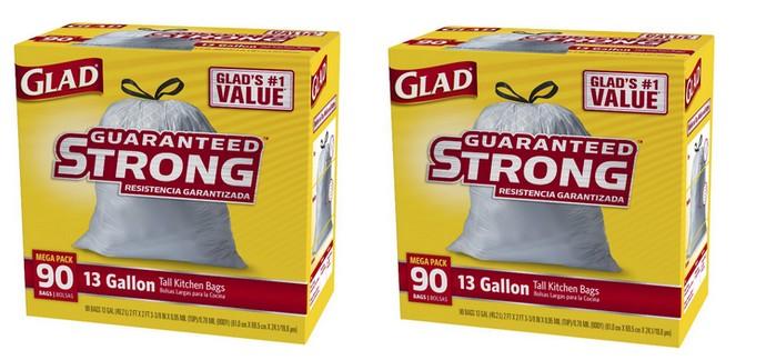 Glad Tall Kitchen Drawstring Trash Bags 13 Gallon