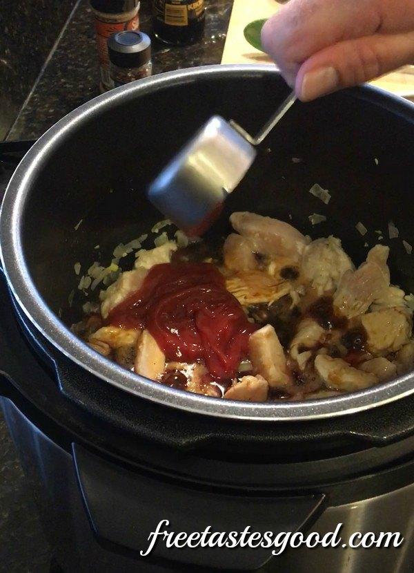 pressure-cooker-honey-sesame-chicken-ketchup