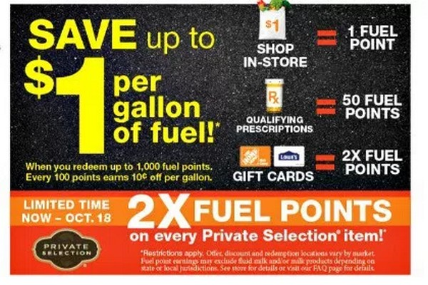 KROGER: 2x Fuel Points on Private Selection Items at Kroger