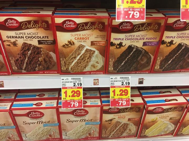 KROGER MEGA EVENT Betty Crocker Cake Mixes ONLY 029 Reg 219