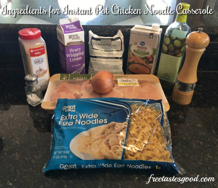instant-pot-chicken-noodle-casserole-ingredients