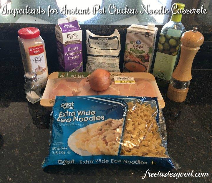 instant-pot-chicken-noodle-casserole-ingredients