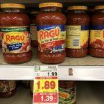 KROGER MEGA EVENT:  Ragu Pasta Sauce ONLY $0.79 (reg. $1.99!)