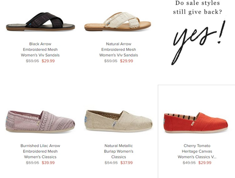 HOT** Tom's Shoes Sale - up to 50% off