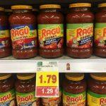 KROGER MEGA EVENT:  Ragu Pasta Sauce ONLY $0.74 (reg. $1.79!)