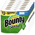 Bounty Quick Size Paper Towels 12 = 30 ONLY $23.23(Reg.$30$)