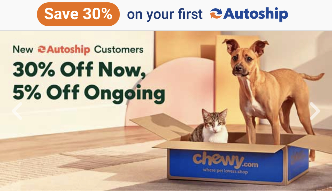 Chewy: 30% Off Your Order