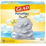 Glad ForceFlex Tall Kitchen Drawstring Trash Bags ONLY $9.87 (reg. $15.54!)