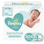 Baby Wipes, Pampers Sensitive Packs, 504 Count Total Wipes ONLY $12.74 (reg. $19.99)